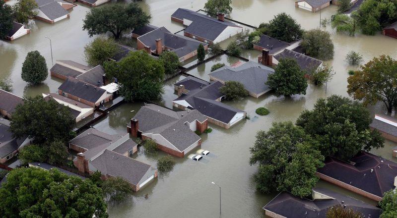 casas inundadas en 2017 por catástrofes naturales
